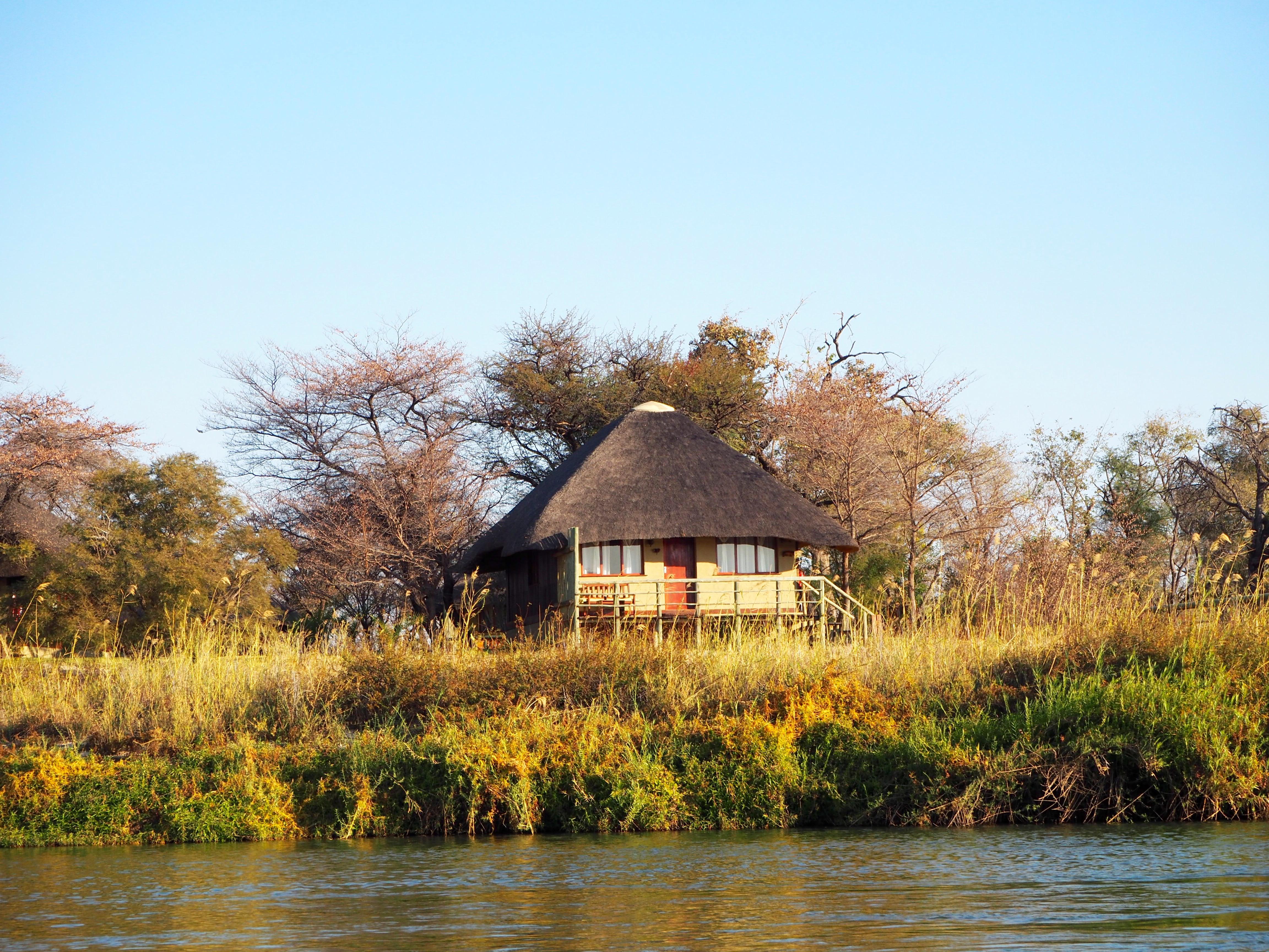 Namibia Okavango Hakusembe Lodge Hütte