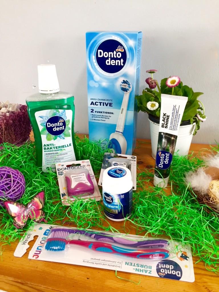 Zanhpflege Zahnbürste Zahnseide Mundspülung