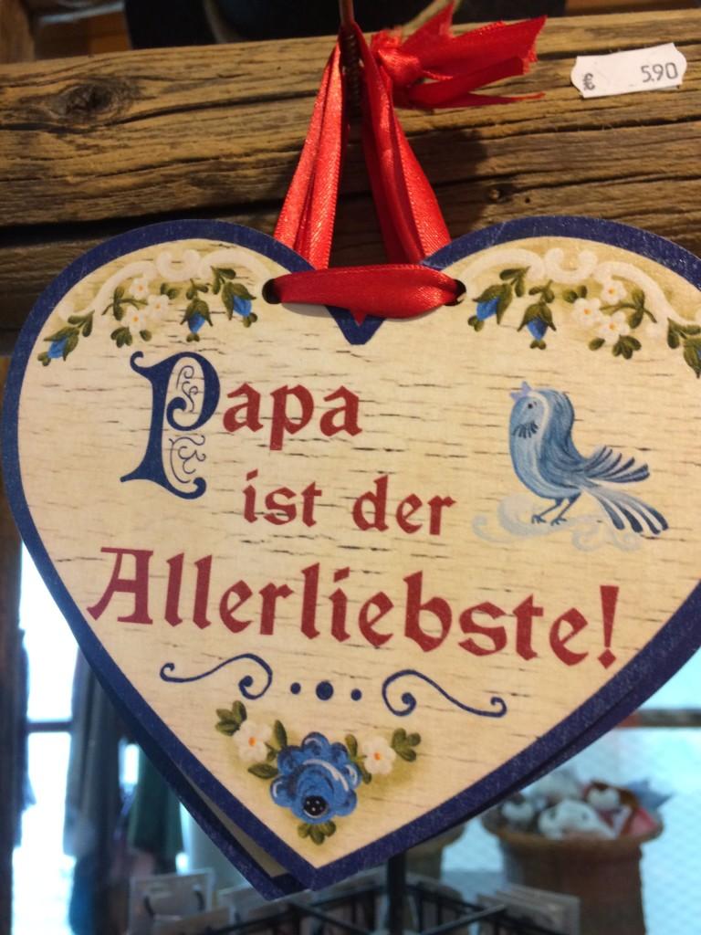 Papa ist der Beste Herz Holz