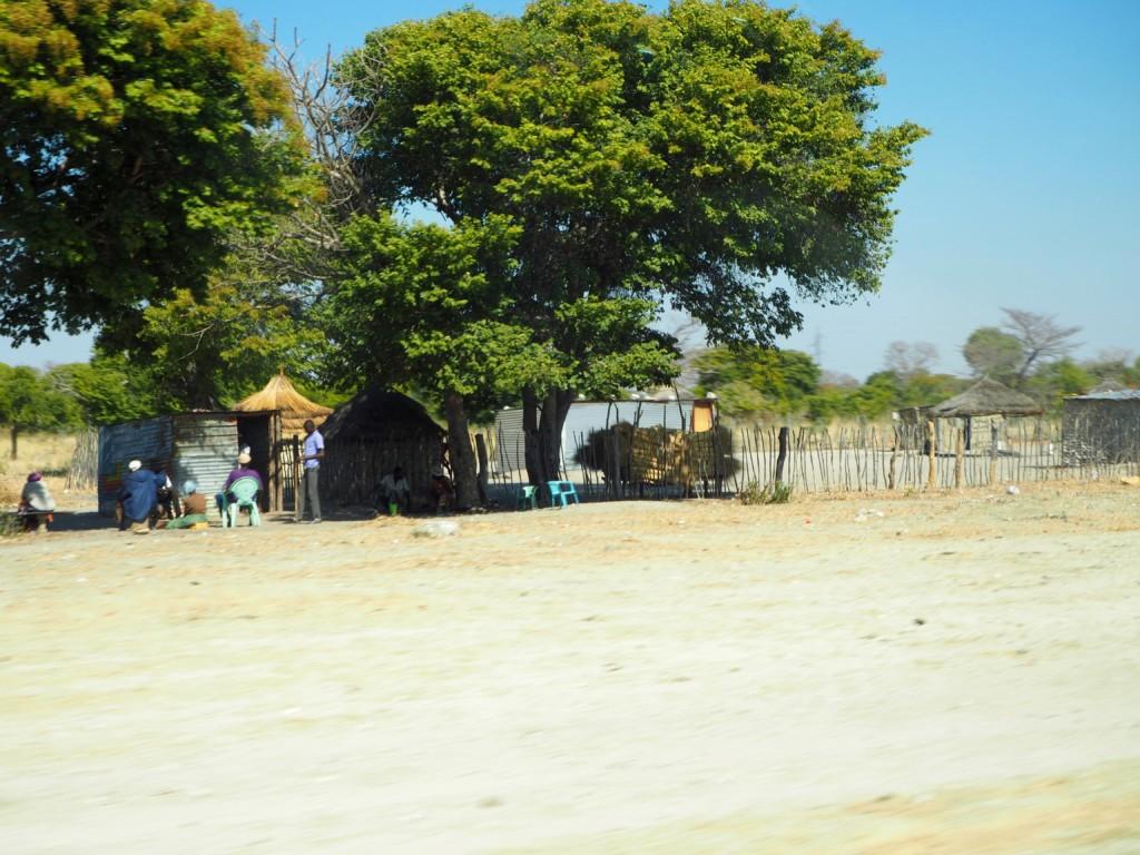Namibia Rundu Rote Linie Afrikanisches Dorf