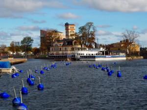 Västervik Smaland Schweden Hafen